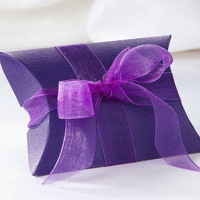 Purple Pillow Favour Box
