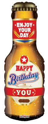 Happy Birthday Supershape Beer Balloon