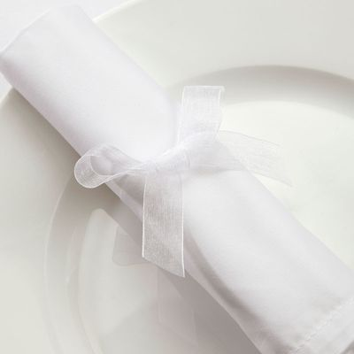 15mm White Organza