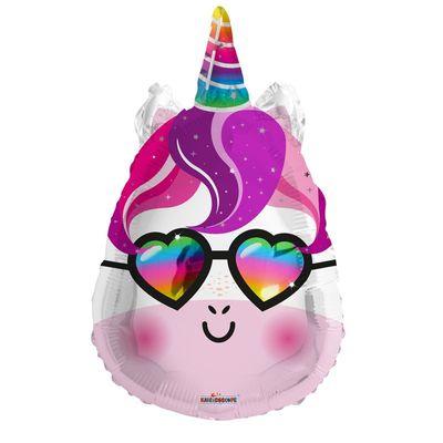 Unicorn Head Balloon With Shades