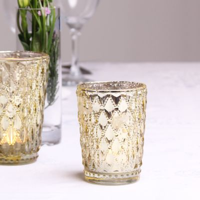 Gold Crystal Effect Votive (9cm)