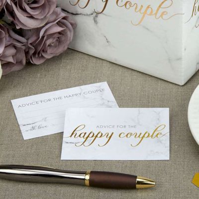 Scripted Marble Wish Cards