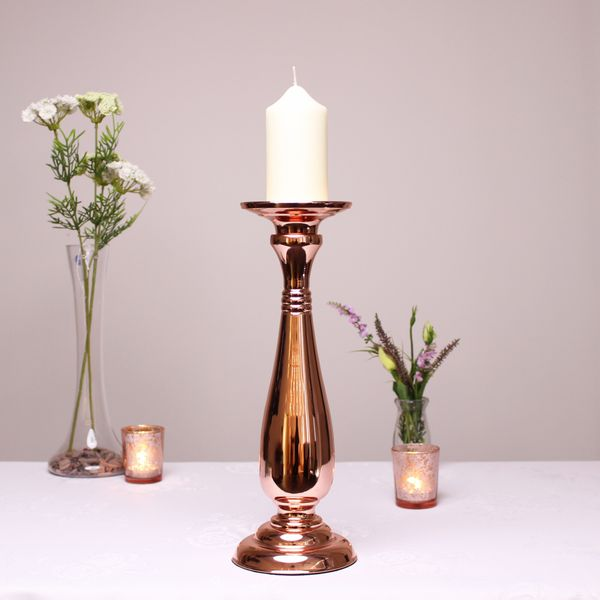 Rose Gold Candle Holder (35cm)
