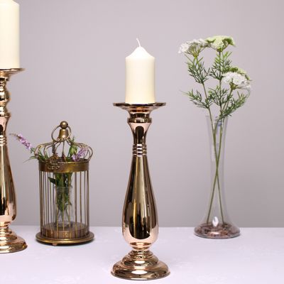 Gold Candle Holder (35cm)