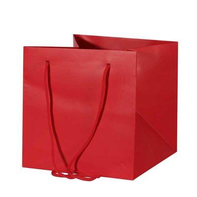 Medium Red Hand Tied Bag