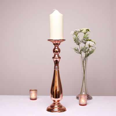 Rose Gold Candle Holder (42.5cm)