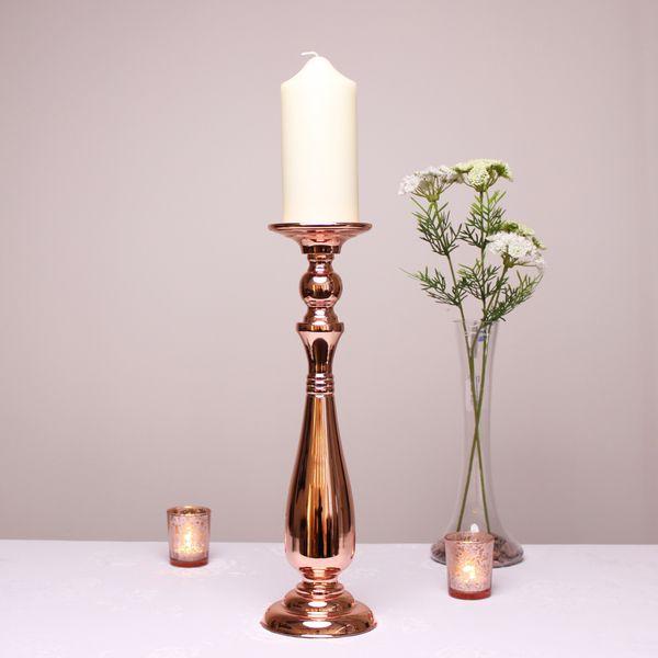 Rose Gold Candle Holder (42.5cm)