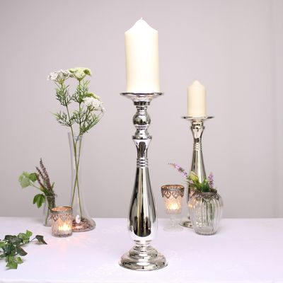 Silver Candle Holder (42.5cm)