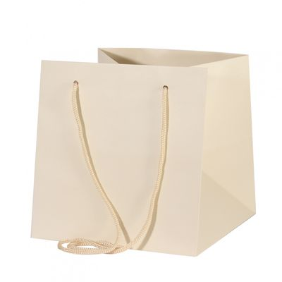 Ivory Hand Tied Bag (25cm)