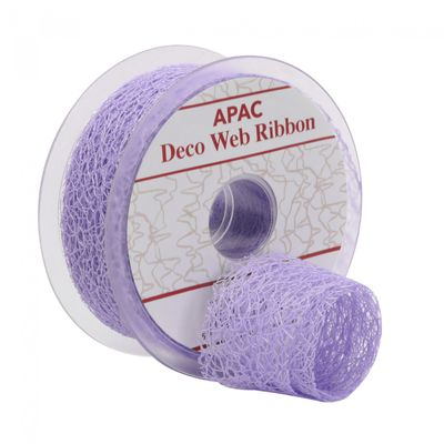 Lavender Deco Web Ribbon (38mm)