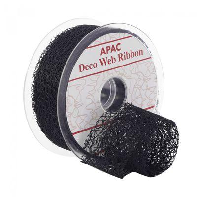 Black Deco Web Ribbon (38mm)