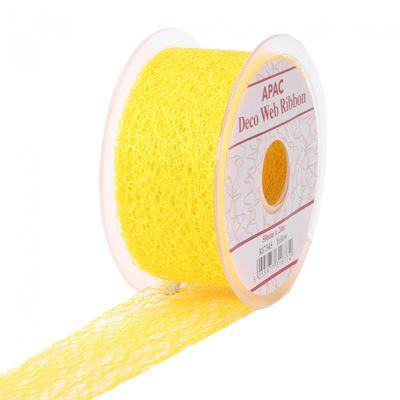 Yellow Deco Web Ribbon (20mm)