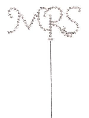 Silver Diamante Mrs Pick