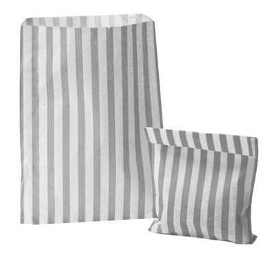 Silver Candy Stripe Sweet Bags