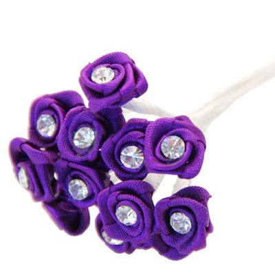 Purple Ribbon Rose