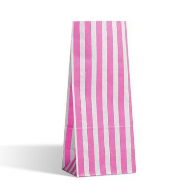 Pink Candy Stripe Pic N Mix Bag