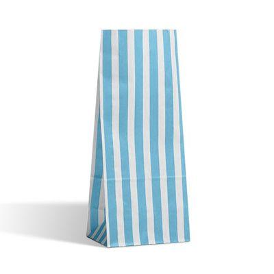 Light Blue Candy Stripe Pic N Mix Bag (25 pk)