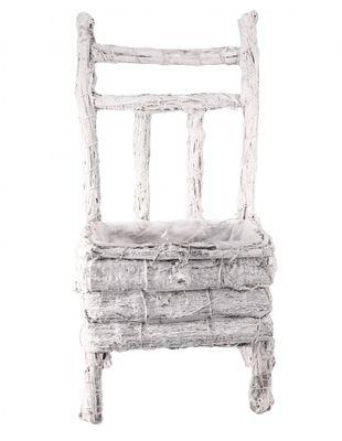 White Chair Planter (40cm)