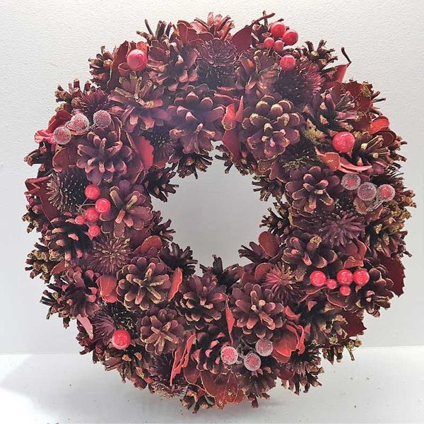 Rich Red Christmas Wreath