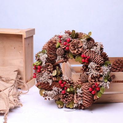 Cinnamon Berry Christmas Wreath (30cm)