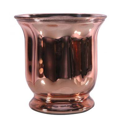 Rose Gold Hurricane Vase (18cm)