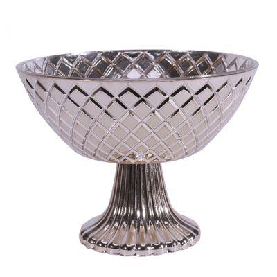 Silver Mercury Pedestal Bowl (15cm)