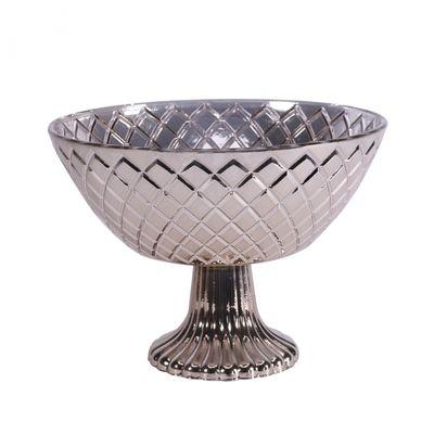 Silver Mercury Pedestal Bowl (13cm)