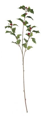 63cm Green Holly Spray (x3)