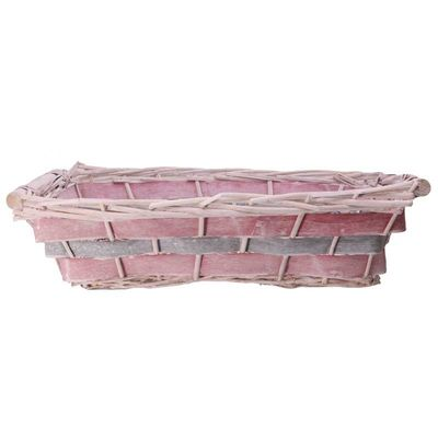 Pink Rectangle Two Tone Tray 43cm