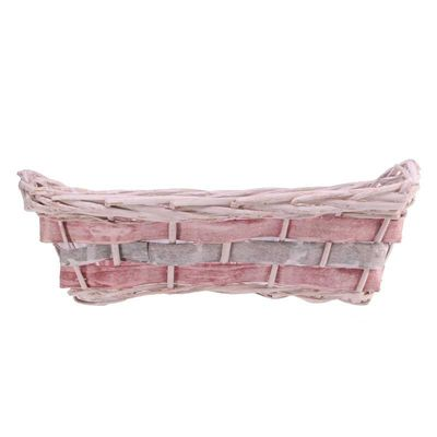 Pink Rectangle Two Tone Tray 37cm