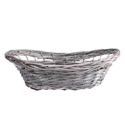 Grey Oval Basket