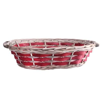 Red Oval Two Tone Tray 50cm