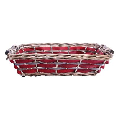Red Rectangle Two Tone Tray 45/50cm