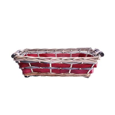 Red Rectangle Two Tone Tray 40/45cm