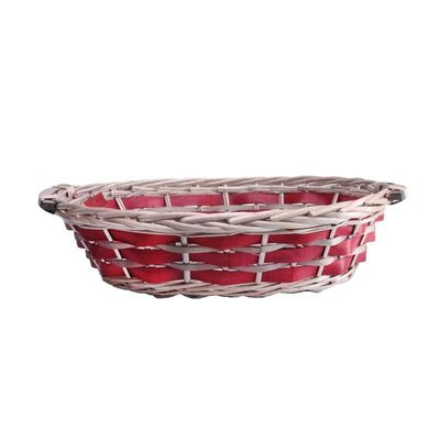 Red Oval Two Tone Tray 45/49cm