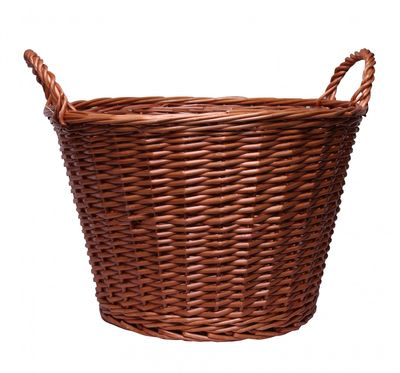 Natural Round Basket With Ears 50cm