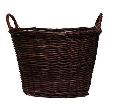 Brown Oval Basket With Ears 50cm