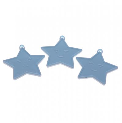 Pastel Blue Star Shape Weights (x50)