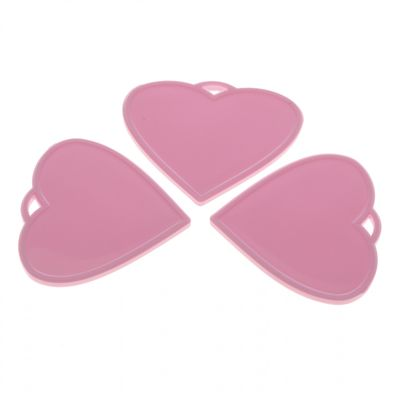 baby Pink Heart Shape Balloon Weights (x50)