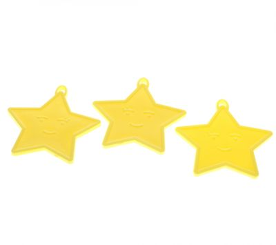 Pastel Yellow Star Shape weights (x50)