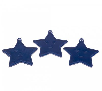 Primary Blue Star Shape Weights (x50)