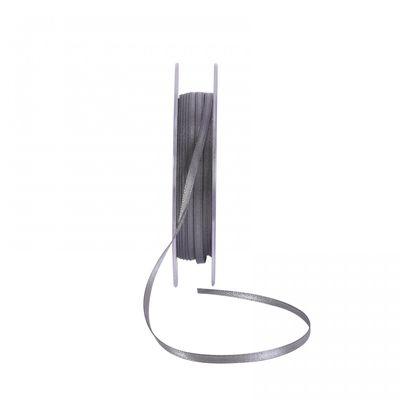 Gunmetal Grey Satin Ribbon 3mm