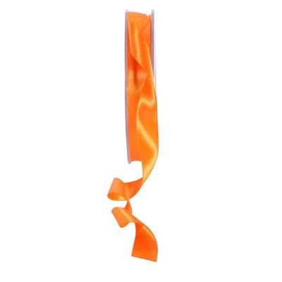 Orange Satin Ribbon 15mm
