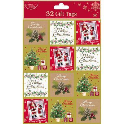 Traditional Christmas Gift Tags