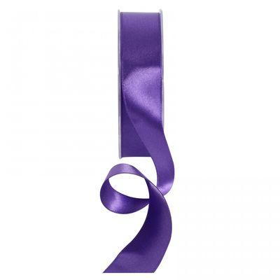 Dark Purple Satin Ribbon 25mm