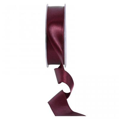 Bordeaux Satin Ribbon 25mm