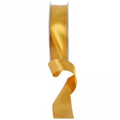 Bright Gold Satin Ribbon 25mm