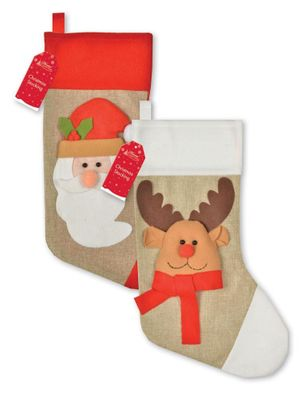 3D Santa & Reindeer Stockings
