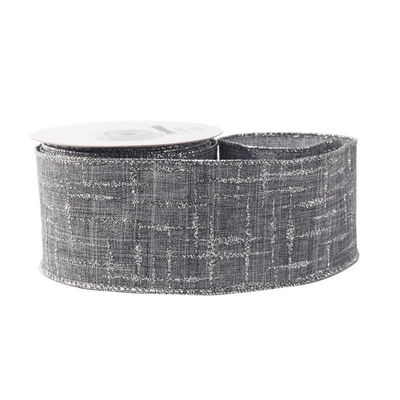 ey with Silver Pattern Ribbon (63mm x 10yds)
