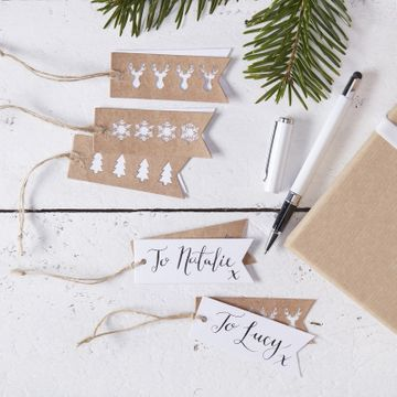 Stag, Snowflake & Christmas Tree Gift Tags